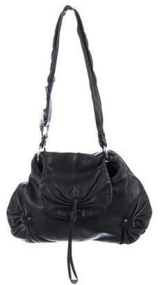Saint Laurent Mamounia Gathered Leather Hobo