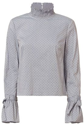 Exclusive for Intermix Iris Swiss Dot Top $235 thestylecure.com