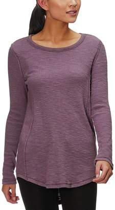 Dylan Burnout Waffle Hi-Lo Thermal Crew Top - Women's