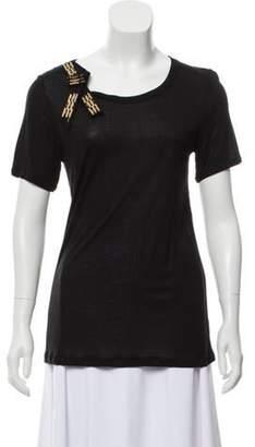 Lanvin Short Sleeve Scoop Neck T-Shirt Black Short Sleeve Scoop Neck T-Shirt