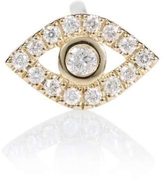 Sydney Evan Evil Eye 14kt gold and diamond earring