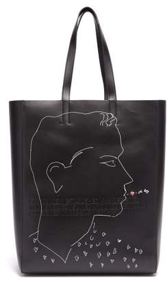 Calvin Klein X Andy Warhol Leather Tote - Mens - Black