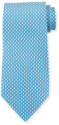 Salvatore Ferragamo Men's Sailboat Silk Tie