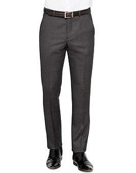 Ted Baker Wool Flat Front Pinhead Trouser