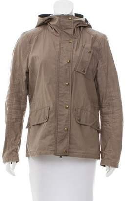 Belstaff Hooded Zip Front Jacket