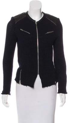 IRO Leather-Trimmed Wool Jacket