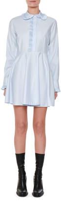 Stella McCartney Long-Sleeve Cotton Poplin Shirtdress