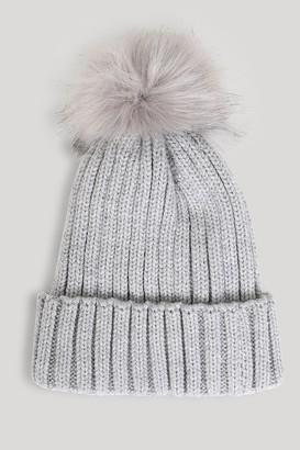 a33b0163e73088 Grey Pom Pom Hat - ShopStyle UK