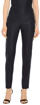 St. John Stretch Birdseye Suiting Skinny Ankle Pants