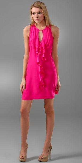 Parker Ruffle Keyhole Dress