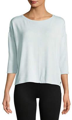 Calvin Klein Quarter-Sleeve Hi-Lo Pullover