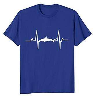 Shark Heartbeat Deep Sea Creature Animals Heartbeat T-Shirt