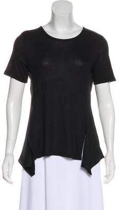 Alexander Wang Open Back Short Sleeve Top