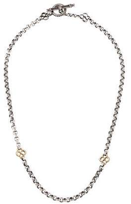 Konstantino Two-Tone Clover Chain Necklace silver Two-Tone Clover Chain Necklace