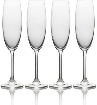 Mikasa Set of 4 Champagne Flute Glasses