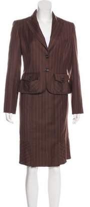 Valentino Pinstripe Skirt Suit