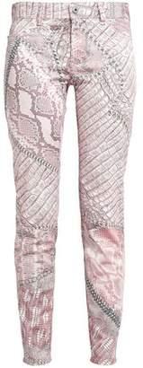 Just Cavalli Printed Stretch-cotton Skinny Pants