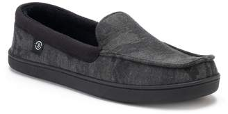 Isotoner Men's Trey Camouflage Twill Moccasin Slippers