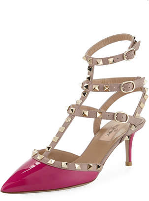 Valentino Rockstud Two-Tone Caged Pump
