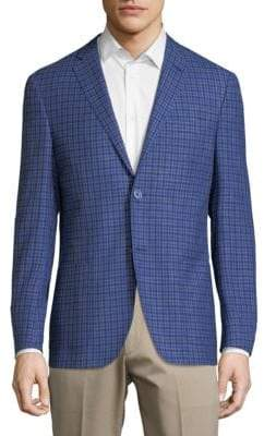 Corneliani Checkered Notch Jacket