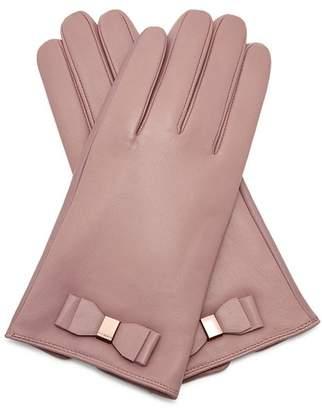 Ted Baker Bblake Bow Leather Gloves
