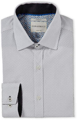 English Laundry Con.Struct Diamond Pattern Slim Fit Dress Shirt