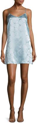 Anna Sui Deco Textured Circle Slip Dress