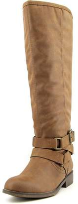 Madden-Girl Corprl Wide Calf Women Round Toe Synthetic Brown Knee, Tan, Size 5.0