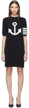 Thom Browne Navy Anchor Icon Dress
