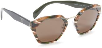 Prada Hexagon Sunglasses $330 thestylecure.com