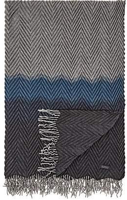 Barneys New York Beki Colorblocked Pleated Cashmere Throw