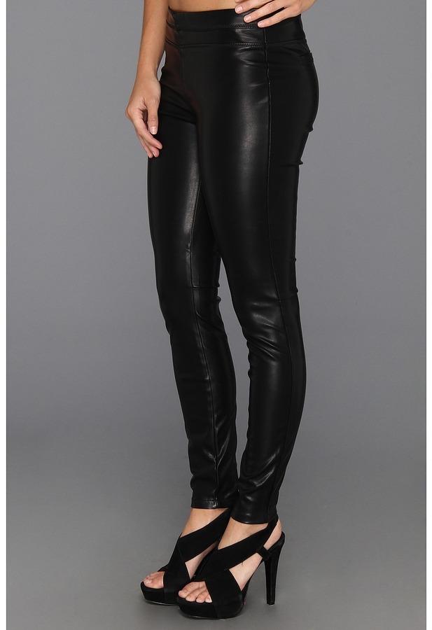Blank NYC Black Vegan Leather Legging in Pussy Cat