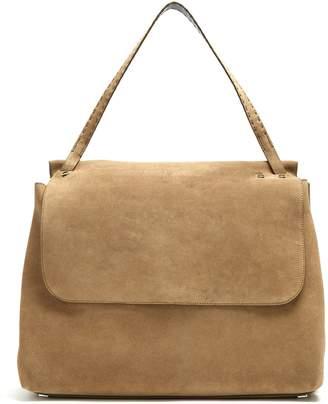 The Row Top Handle 14 suede shoulder bag