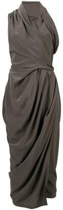 Rick Owens asymmetric draped dress
