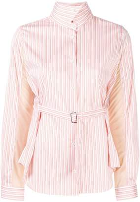 Aalto belted striped shirt