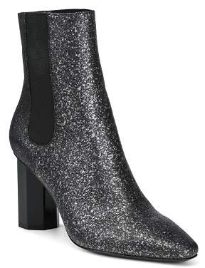 Donald J Pliner Women's Laila Pointed Toe Glitter Suede Booties