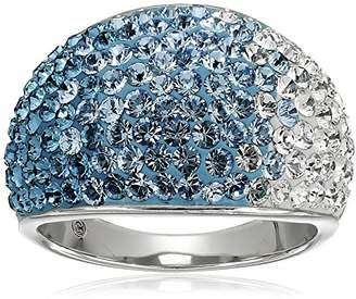 Swarovski Sterling Silver Faded Blue Ring with Elements