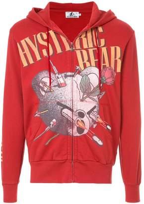 Hysteric Glamour bear logo hooded sweatshirt