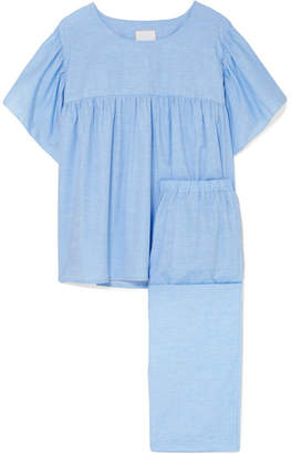 Three J NYC Kelly Cotton-voile Pajama Set - Blue