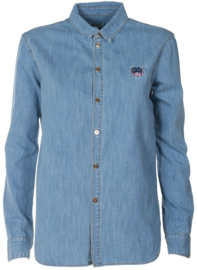 Kenzo Kenzo Tiger Cotton-denim Shirt