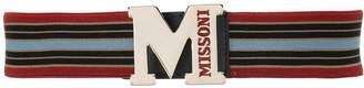 M Missoni striped belt