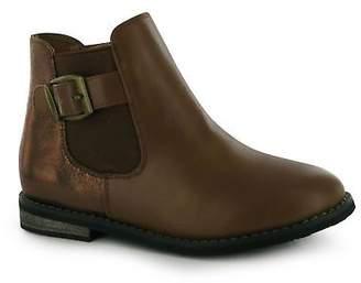 Miso Kids Lola Glitter Boots Girls Zip Fastening Buckle Slight Heel Ankle Shoes