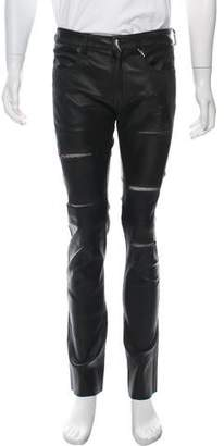 Giuseppe Zanotti Distressed Leather Pants w/ Tags