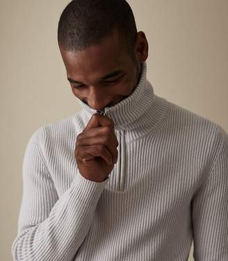 Reiss INGLESTON FUNNEL NECK JUMPER Ice Grey