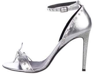 Rodarte Metallic Embellished Sandals
