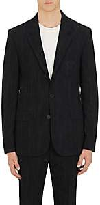 Givenchy Men's Cotton-Blend Jacquard Three-Button Sportcoat - Black