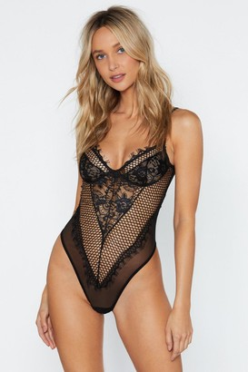 Nasty Gal Such a Mesh Lace Bodysuit