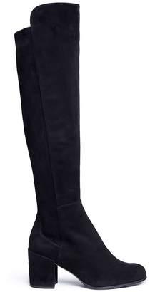 Stuart Weitzman 'Alljack' stretch suede knee high boots