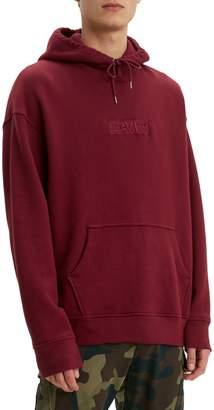 Levi's Oversized Logo Cotton-Blend Fleece Hoodie