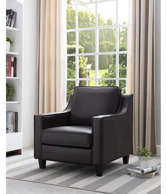 Furniture Of America Furniture of America Delia Breathable Leatherette Gray Accent Chair